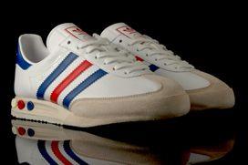 Adidas Kleger super blanco / azul / rojo zapatillas Pinterest formadores
