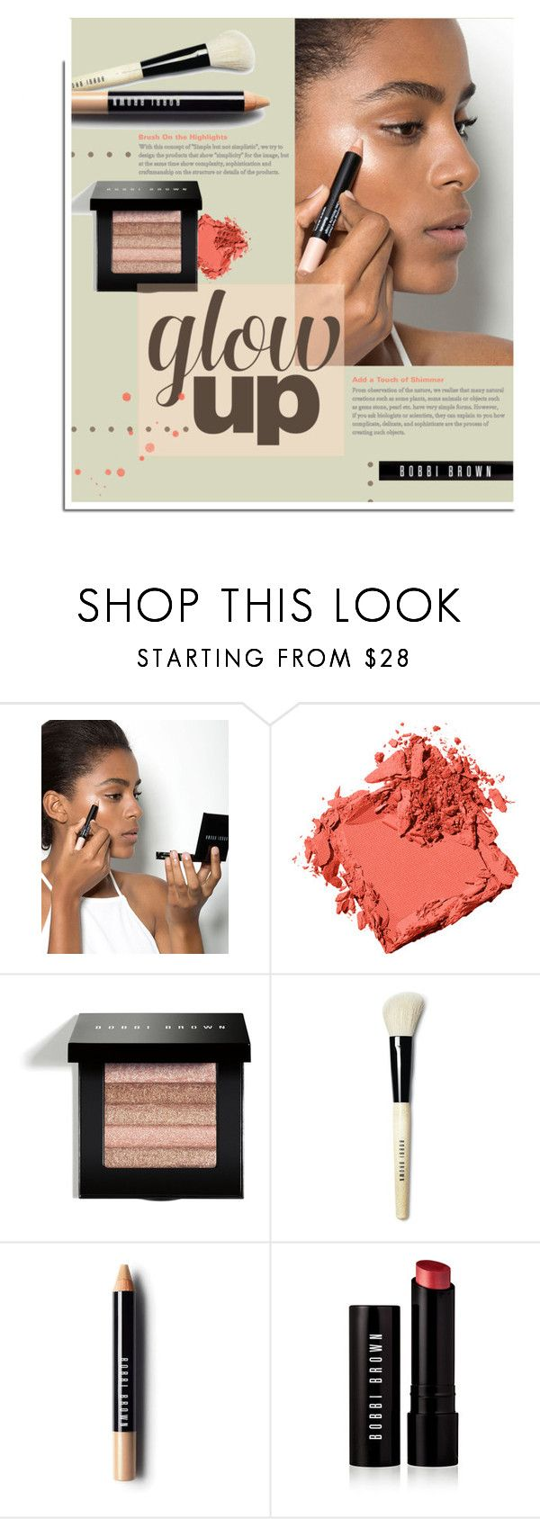 """""""Makeup Lesson."""" by s-elle ❤ liked on Polyvore featuring beauty, Bobbi Brown Cosmetics and glowup"""