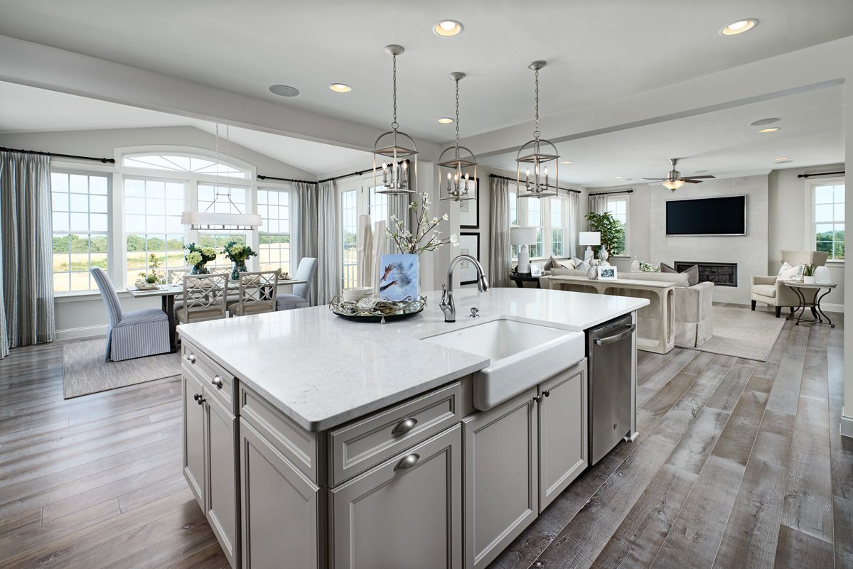 Apron Sink Hemingway Model Home Kitchen Hagerstown Maryland Richmond American Homes In 2020 Richmond Homes Log Home Kitchens New Kitchen Designs