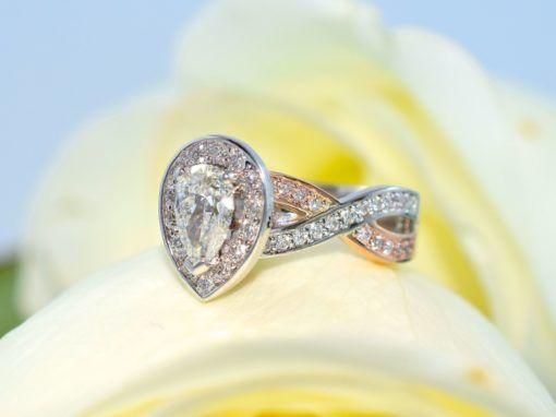 diamond rose gold engagement rings winnipeg