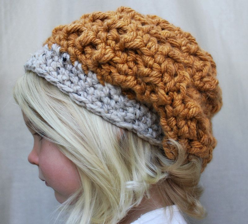 Mo would look great in this- PATTERN: The Hadlee Beret -Toddler, Child, & Adult Sizes- slouchy, beanie, chunky. $4.00, via Etsy.