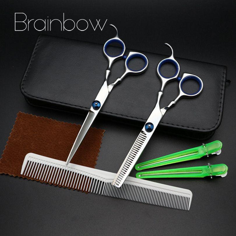 Brainbow 2017 Mới Nhất 6 5 Professional Toc Scissors Set Cắt Loang Keo Cắt Toc Salon Với Comb Kẹp Toc Pu Trườn Cheap Hair Products Scissor Set Hair Pins