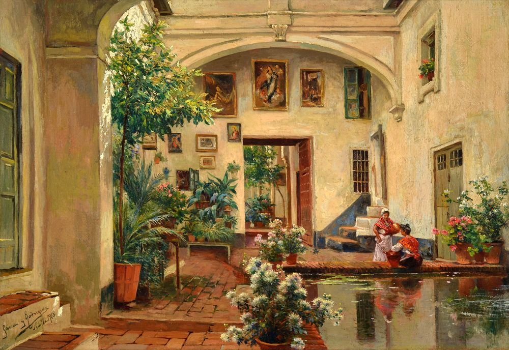 Spanish Courtyards, Patiou0027s And Gardens By Manuel Garcia Rodriguez  (1863 1925).