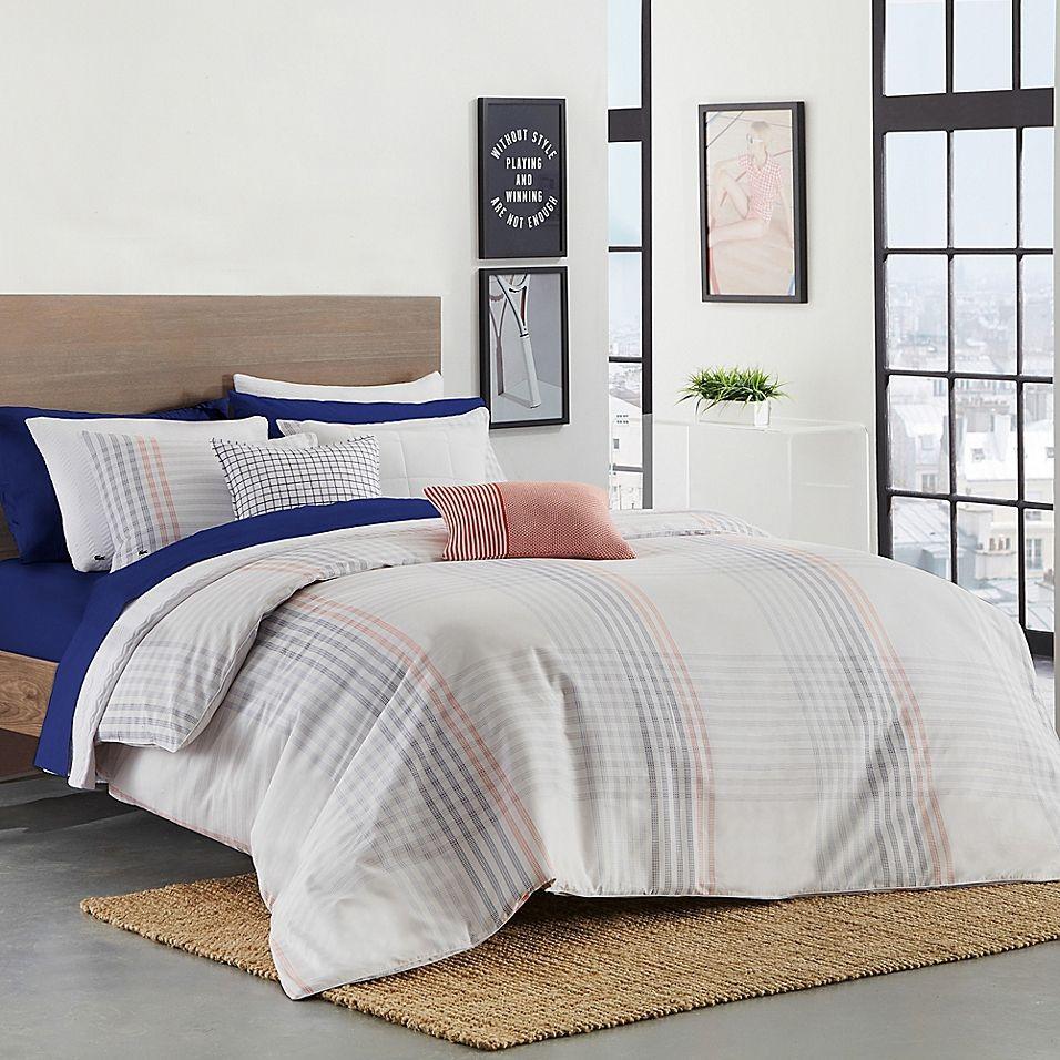 Lacoste Grimaud Twin Twin Xl Comforter Set Grey Multi Comforter