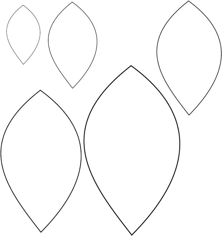 picture regarding Free Printable Leaf Template identified as 6 Ideal Visuals of Paper Printable Leaf Behaviors - Slide Leaf