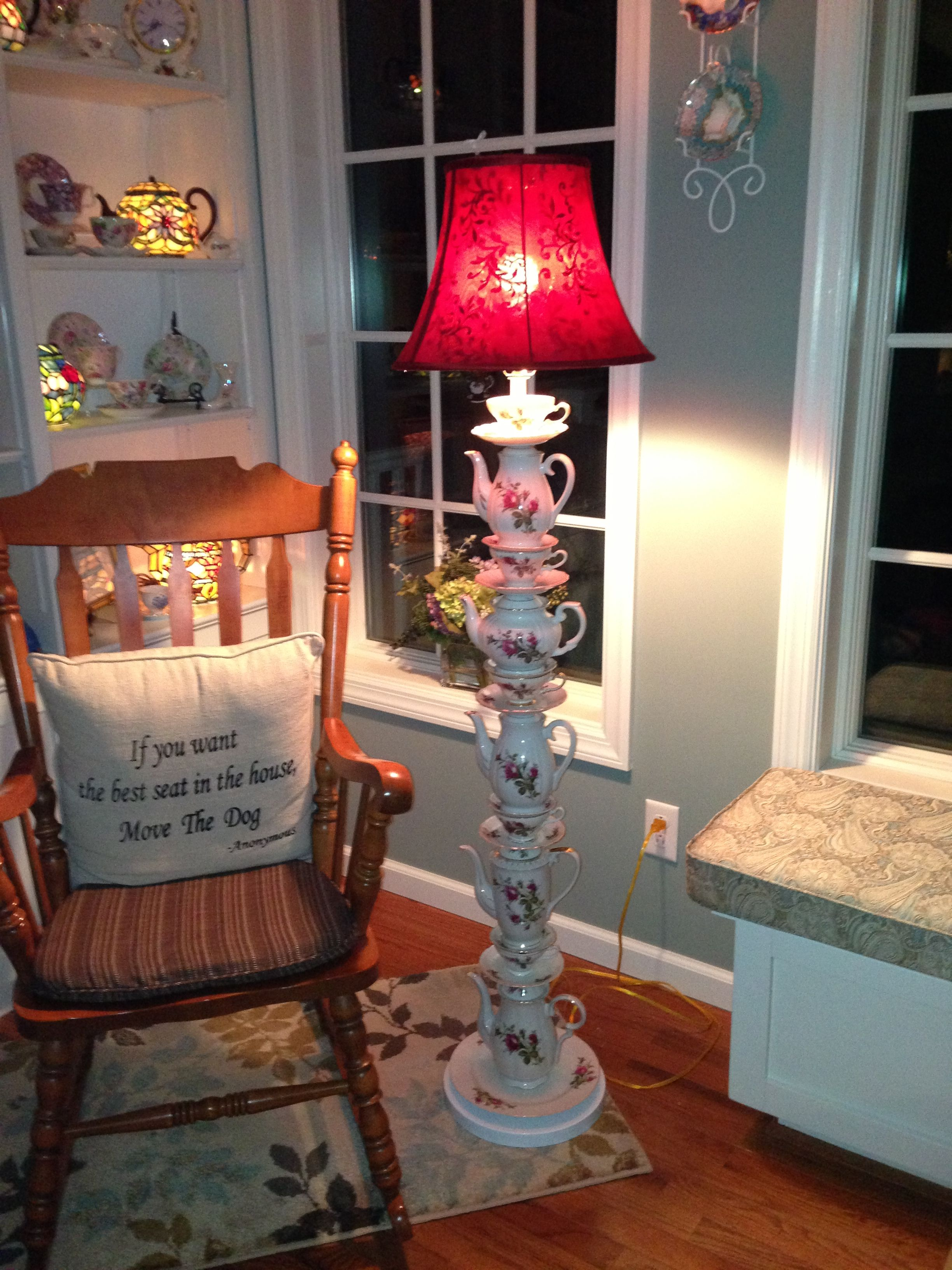 Teapot Lamp That I Made I Love It Teapot Lamp Decor Fun Decor