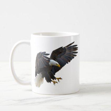 Bald eagle coffee mug - home decor design art diy cyo custom