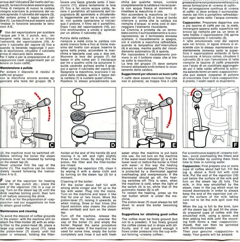 Olympia Express Cremina Manual Olympia Manual Expressions