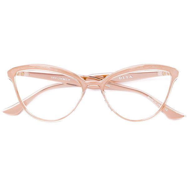 Dita Eyewear Informer glasses (3.260 RON) ❤ liked on Polyvore featuring accessories, eyewear, eyeglasses, dita eyewear, acetate glasses, dita glasses and dita eyeglasses