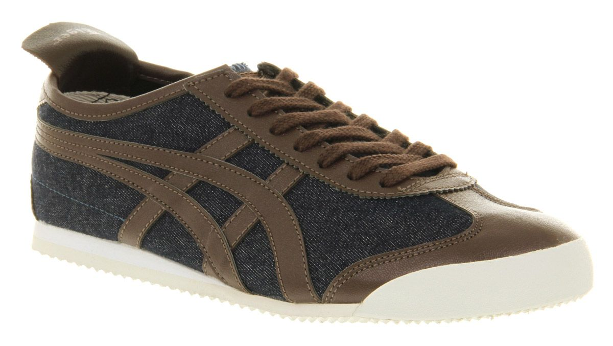 huge discount 66abd 32d13 Details about Onitsuka Tiger Mexico 66 Denim/brown Trainers ...