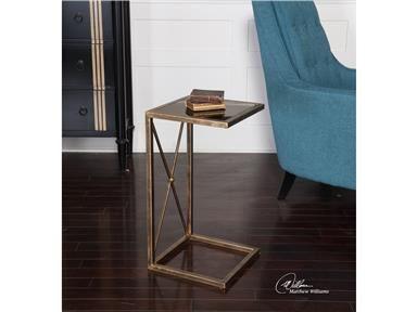 Living Room Uttermost Zafina Gold Side Table 25014 At International