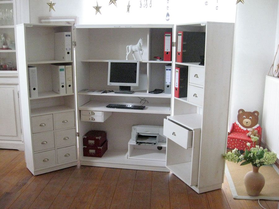 Cs 01 Antik Pc Schrank Innen Buro Hausorganisation