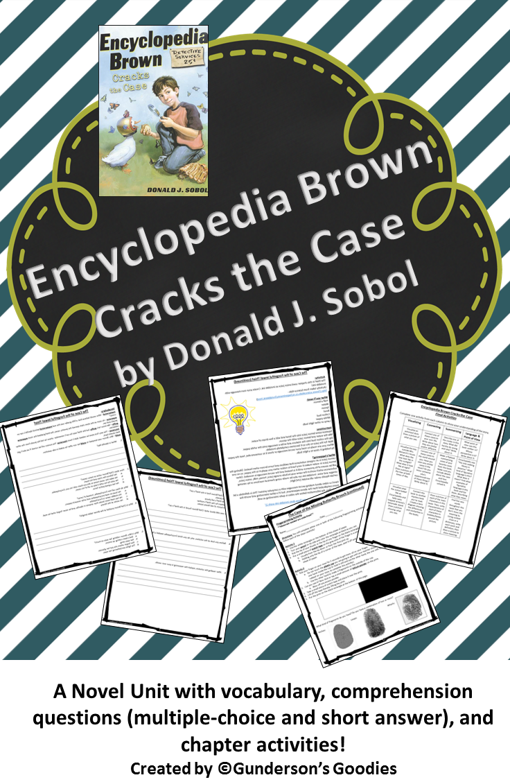 encyclopedia brown: boy detective (book #1) this is a novel study