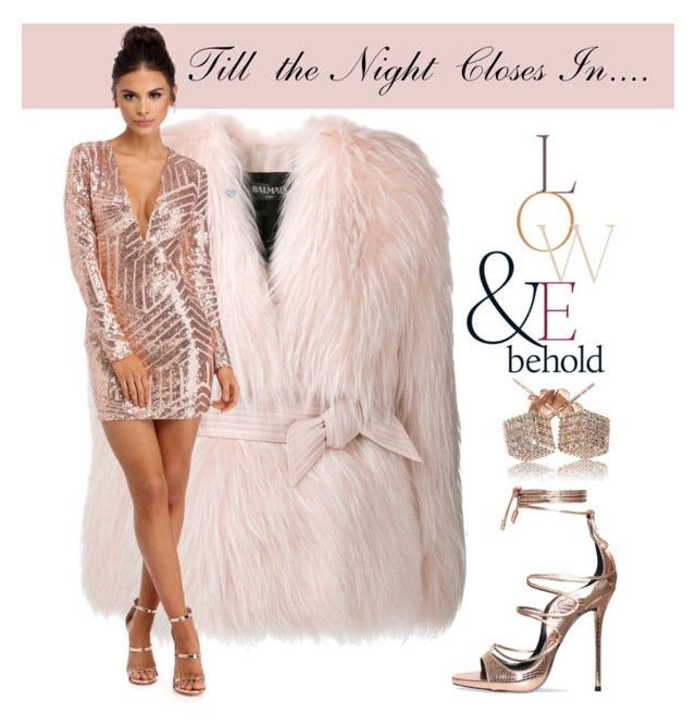 """""""Till the Night Closes In..."""" by gracecar3 on Polyvore featuring ASOS, Balmain, EWA and Loushelou"""