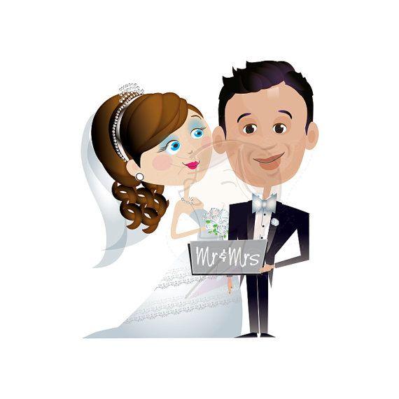 Wedding Bride Groom Clipart Cute Wedding Party By Inkee