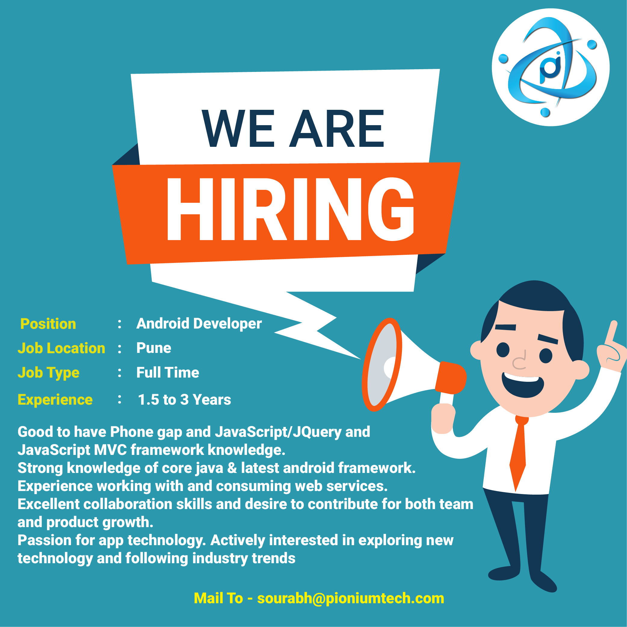 Android Development Recruitment Poster Design Job Poster We Are Hiring