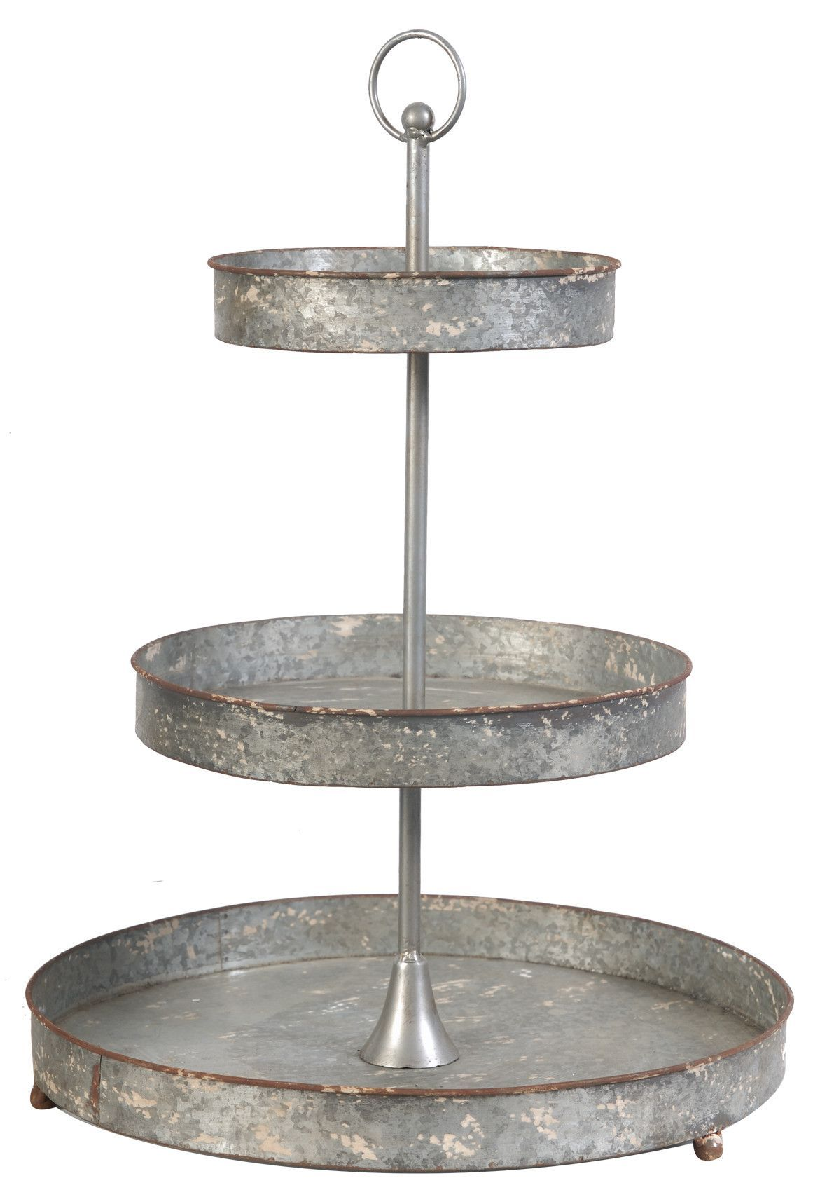 Paull 2 Piece Coffee Table Tray Set Tiered Stand Metal 3 Tier Stand