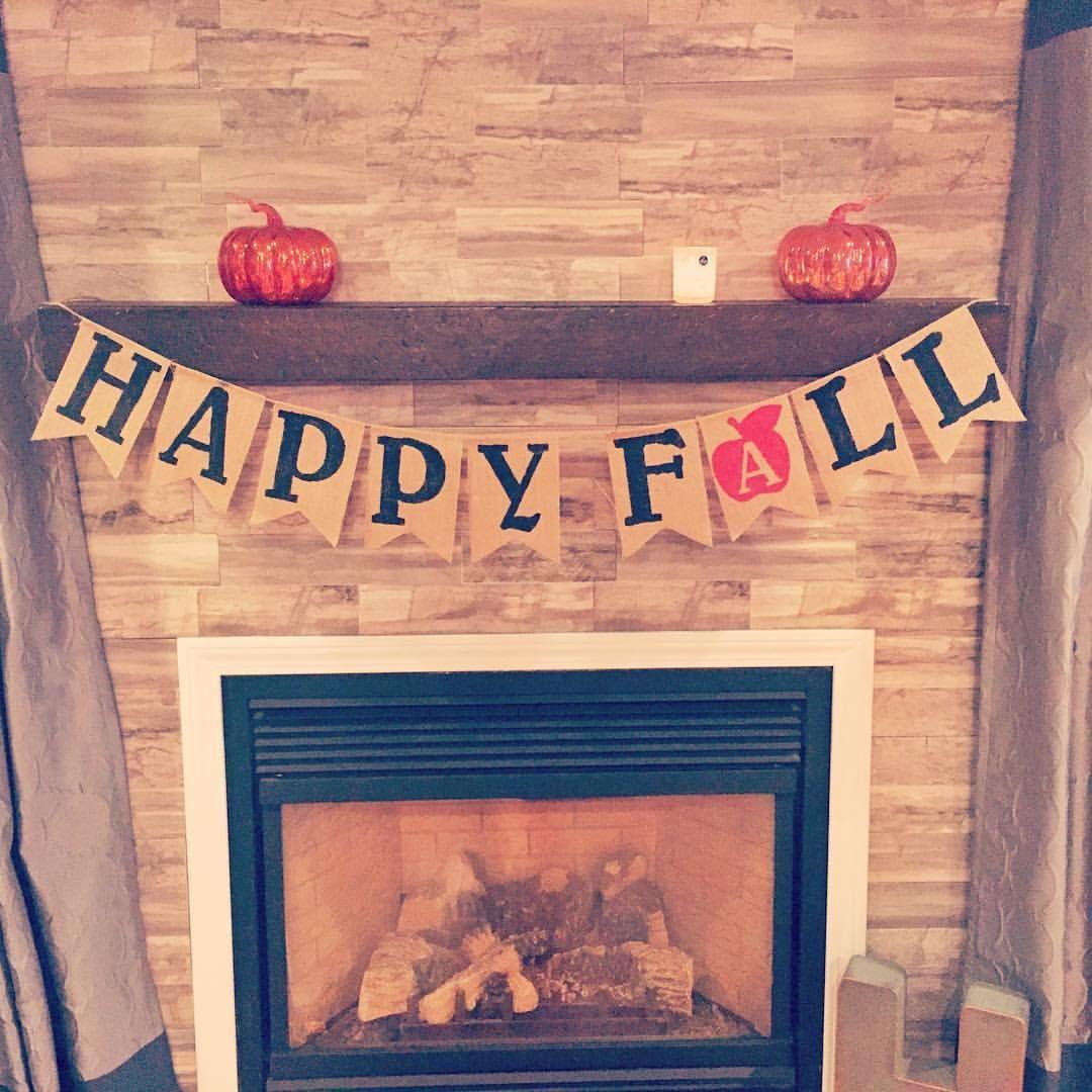 Happy Fall Burlap Banner {Shop HanMade}