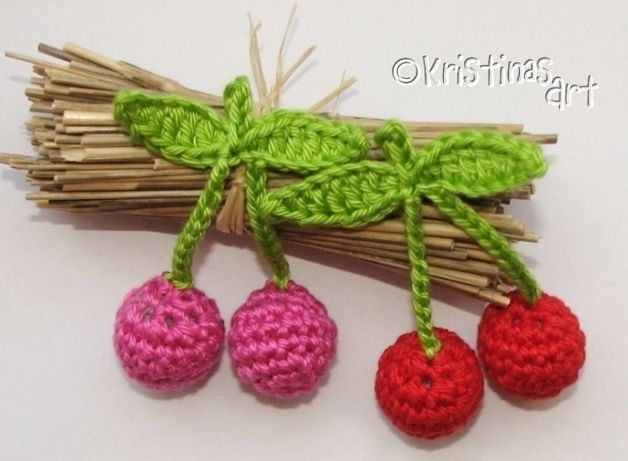 Häkelanleitung 3d Kirschen Crochet Patterns Pinterest Häkeln