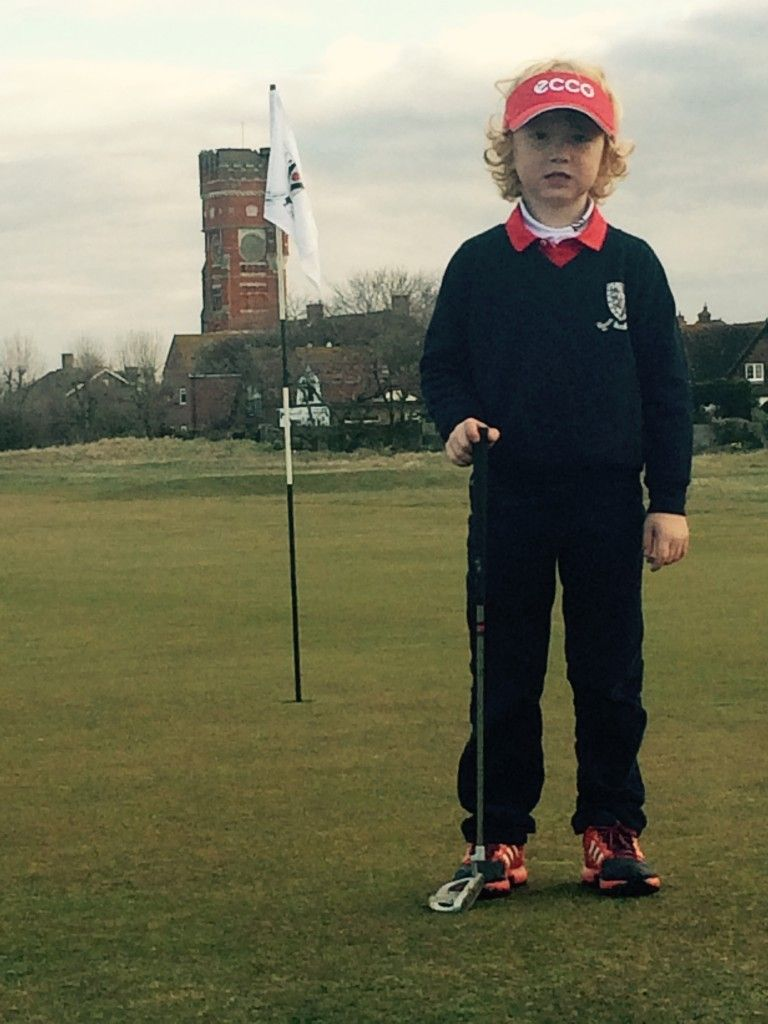 five year old kent golfer from littlestone gc set for img. Black Bedroom Furniture Sets. Home Design Ideas