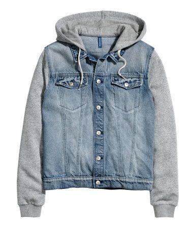 13ccdd303c2e Hooded Denim Jacket