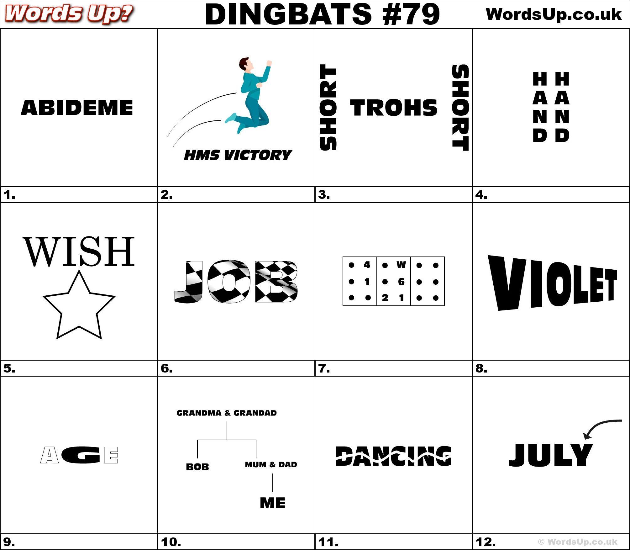 Dingbat Whatzit Rebus Puzzles Dingbats Whatzits Rebus Puzzle Game Brainteasers Brain Teasers Words Word Games