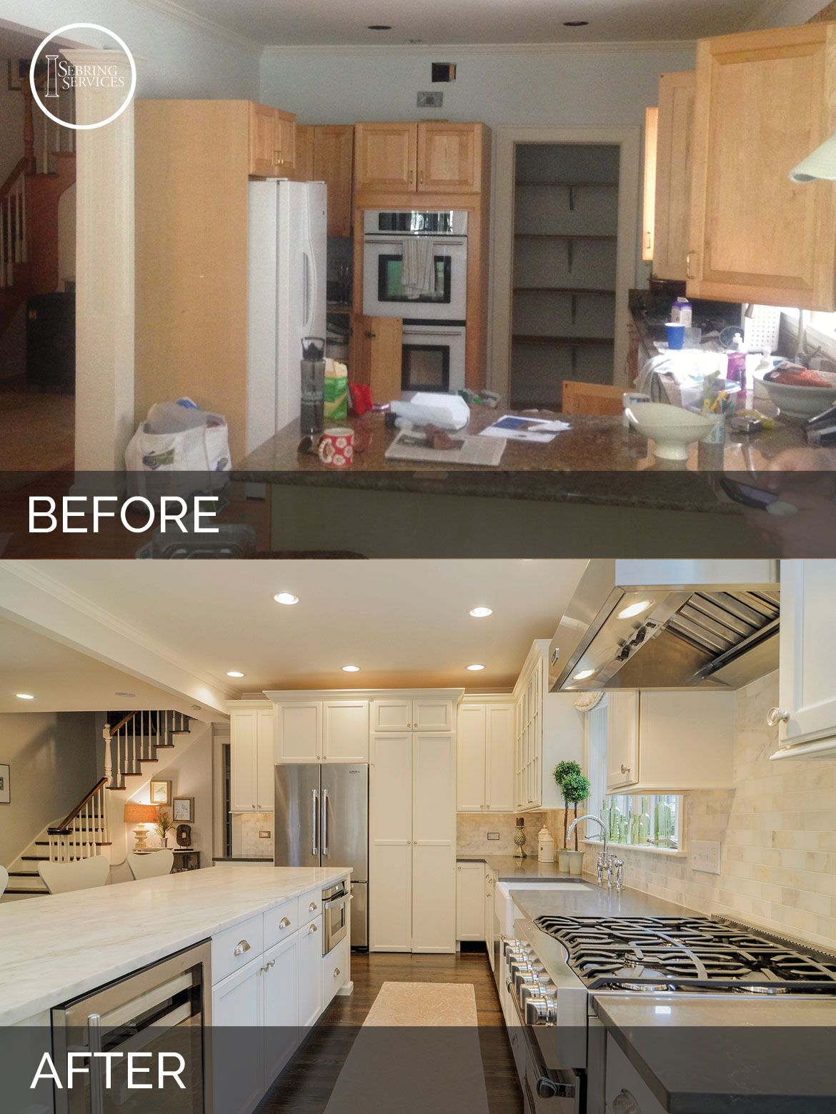 Ben ellen 39 s kitchen before after pictures in 2019 - Living room renovation before and after ...
