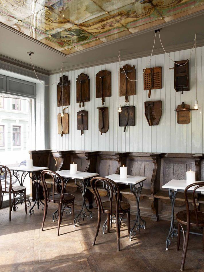Im genes del dise o de bares vintage bares y l mparas - Diseno de bares ...