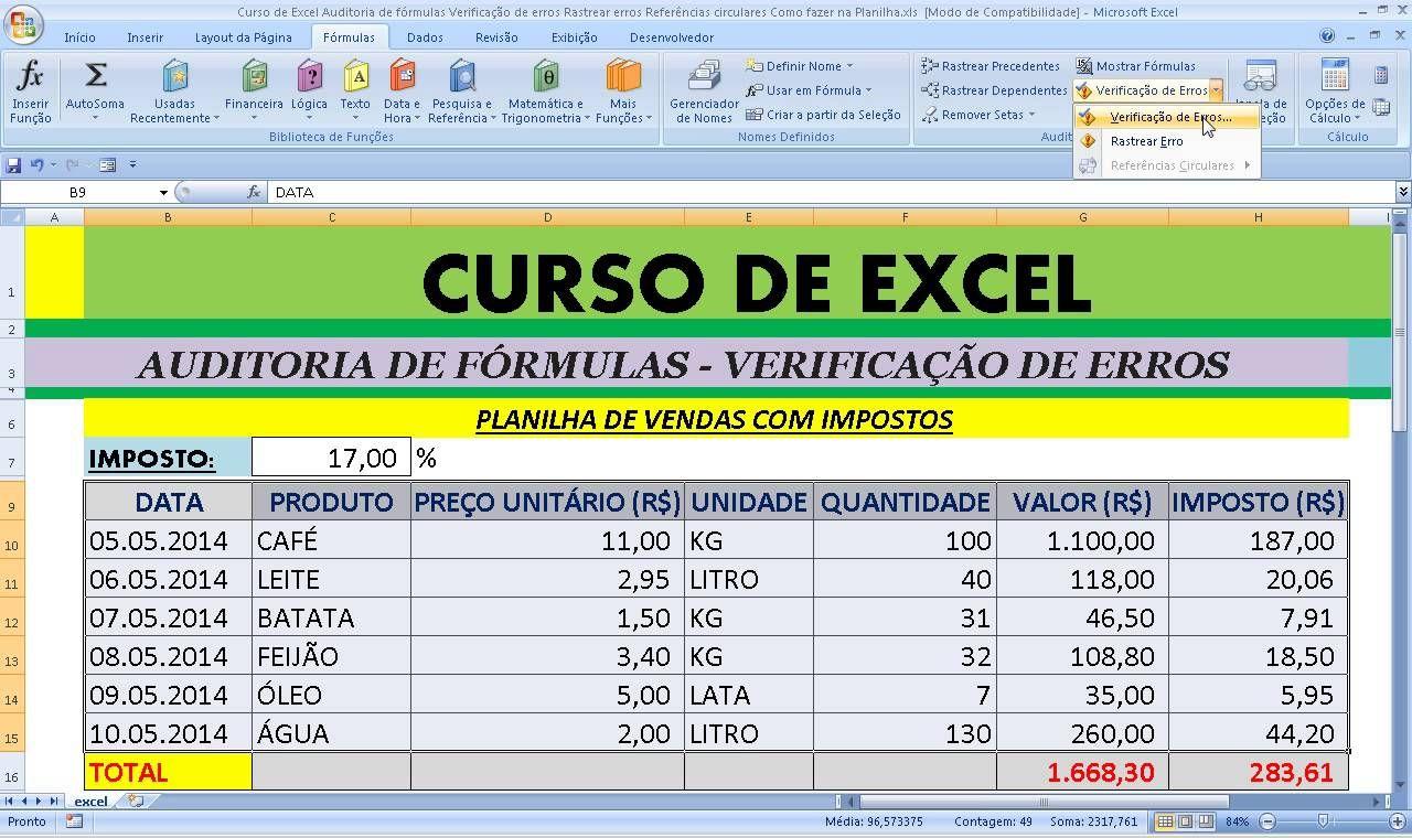 Pin em Excel