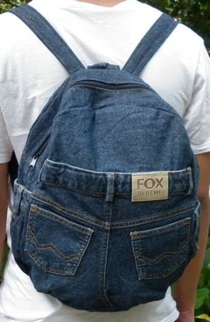 mochila jeans masculina | Jeans diy, Retalhos de jeans