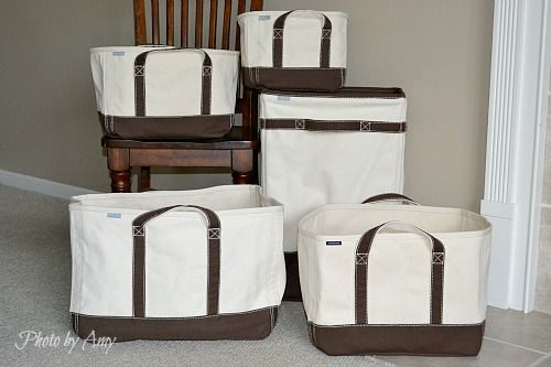 Attrayant Landu0027s End Canvas Storage Tote Set. See What Cool Things You Can Use These  To Organize.