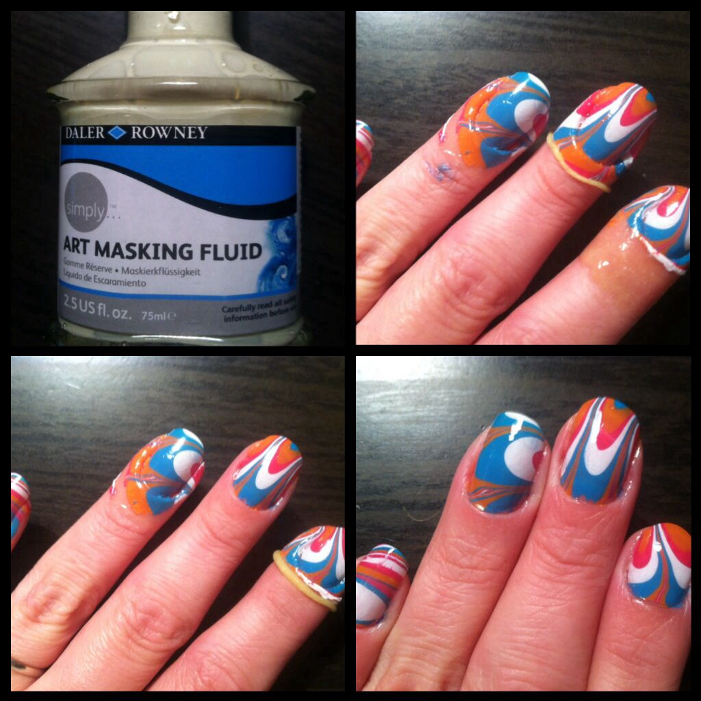 When using the dipping technique to paint my fingernails, instead of ...