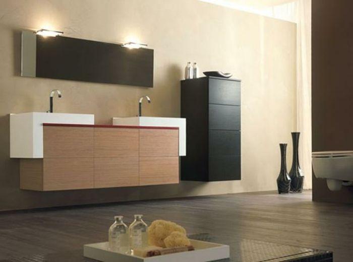 Badezimmermöbel Schwarz ~ Wandschrank für badezimmer schwarz design salle de bain