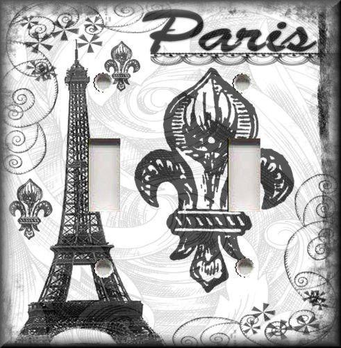 Metal Light Switch Plate Cover Ooh La Paris Decor Black White France