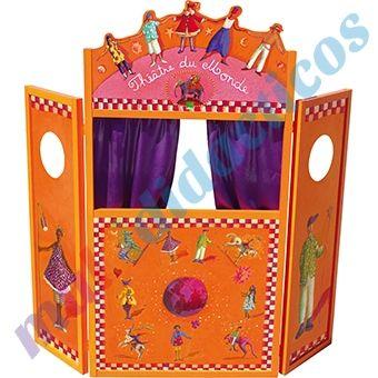 Teatro para marionetas de madera plegable cortinas de - Cortinas de madera ...