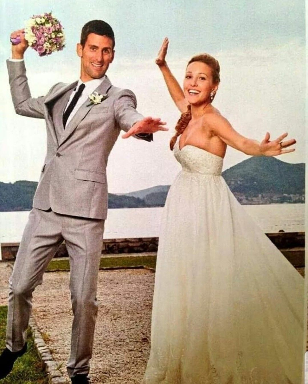 7 10 14 Tennis Mostly Roger Celebrity Weddings Jelena Djokovic Wedding Suits