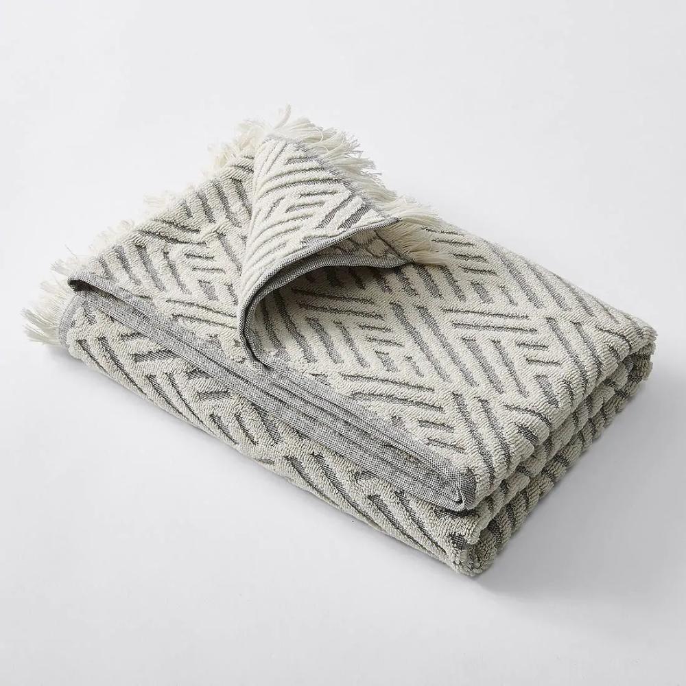 Audrey Textured Towel Collection Natural Bath Towel Target