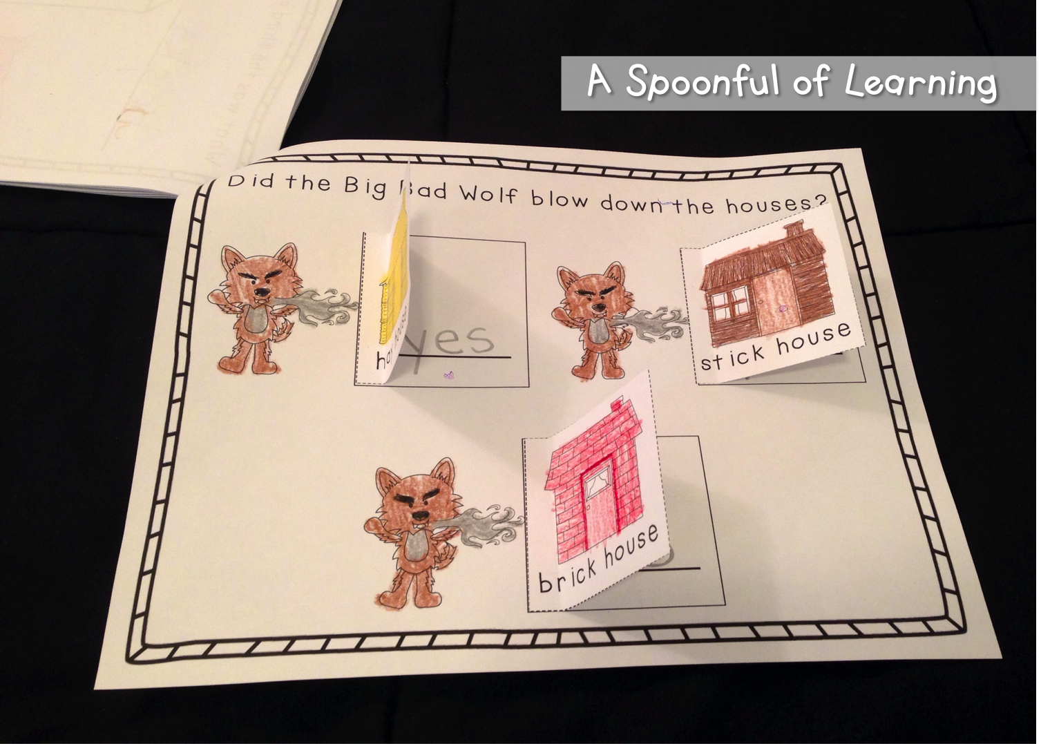 A Spoonful Of Learning Three Little Pigs Three Little Pigs Little Pigs 3 Little Pigs Activities [ 1077 x 1507 Pixel ]