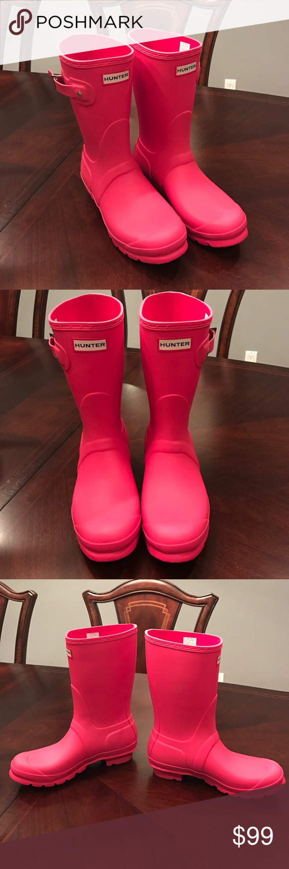 NEW Hunter Original Short Coral Boots Size 8 NWT | Coral ...
