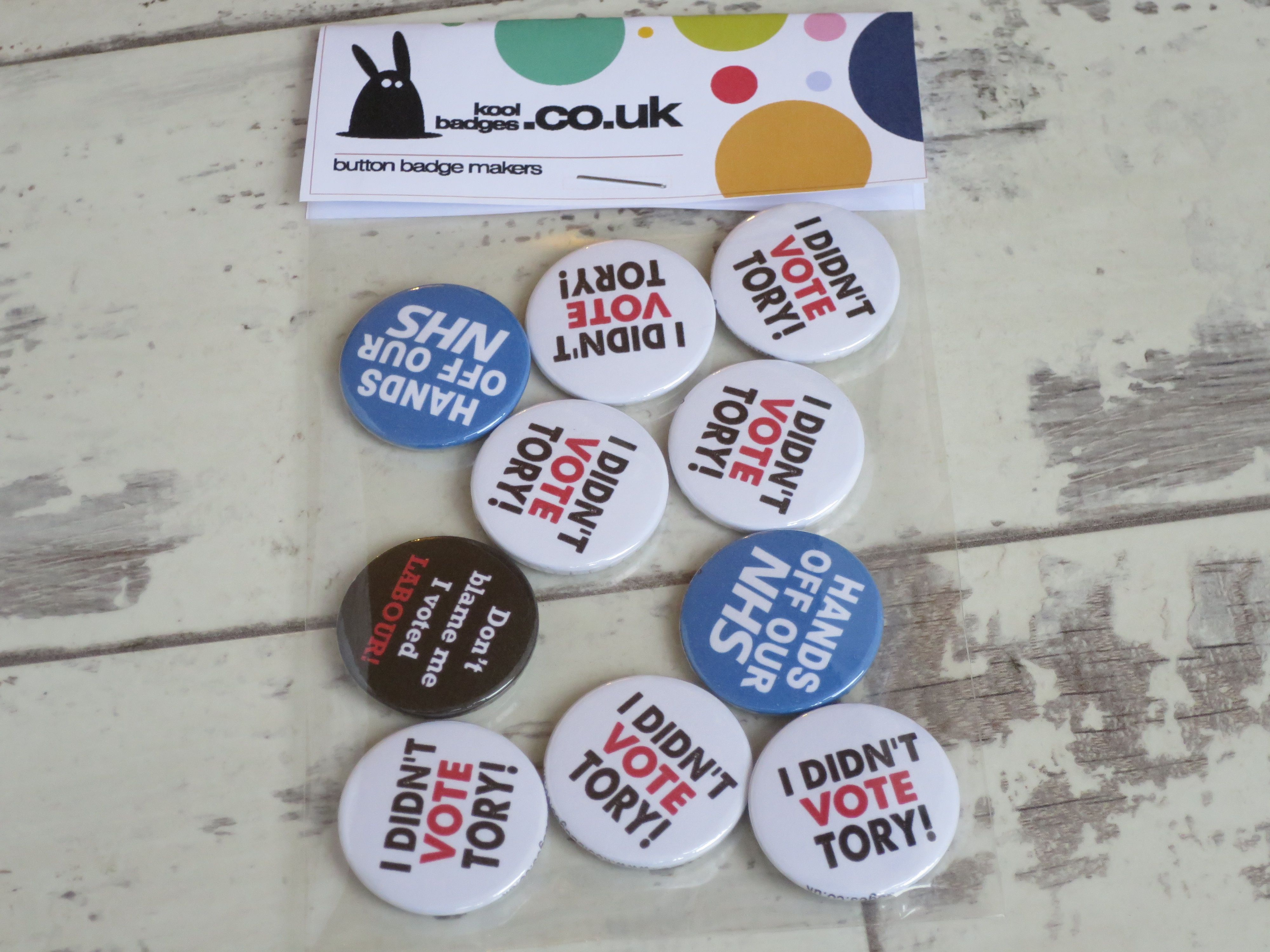 Don/'t Blame Me I Voted Labour 25mm Political General Election Button Badge