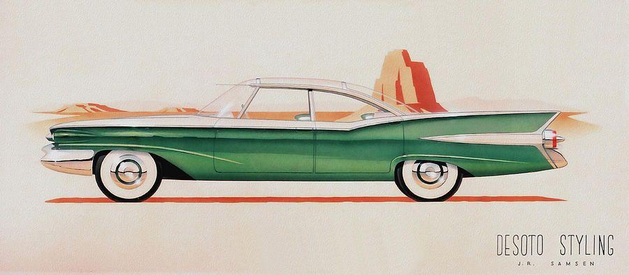 1959 desoto classic car concept design concept rendering sketch rh pinterest com