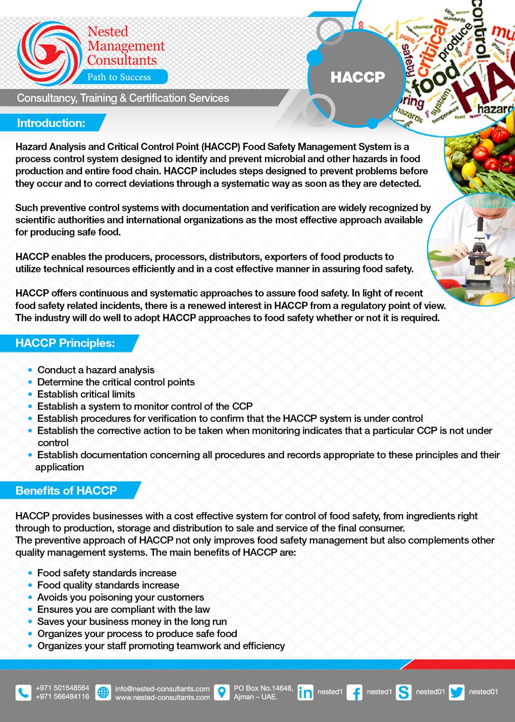 Haccp Hazard Analysis And Critical Control Points Safety Management System Hazard Analysis Management