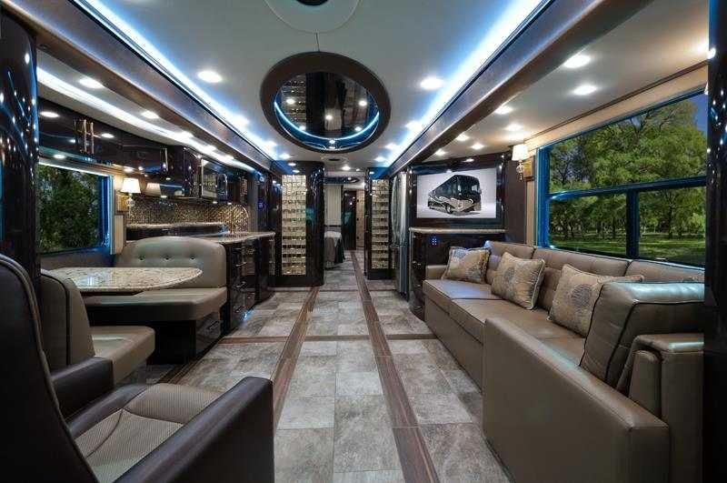 RV Hotels 8 Most Expensive Motorhomes In The World 2015 Fore Travel Ih 45 Luxury Motor Coach Inside