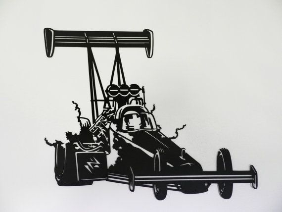 Top Fuel Dragster Metal Wall Art by SunsetMetalworks on Etsy