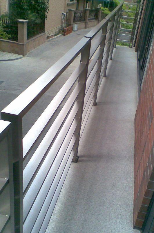 Outdoor Railing Railings Outdoor Balcony Railing Design | Exterior Stainless Steel Handrail | Flat Bar | Balustrade | Steel Railing | Mild Steel | Staircase