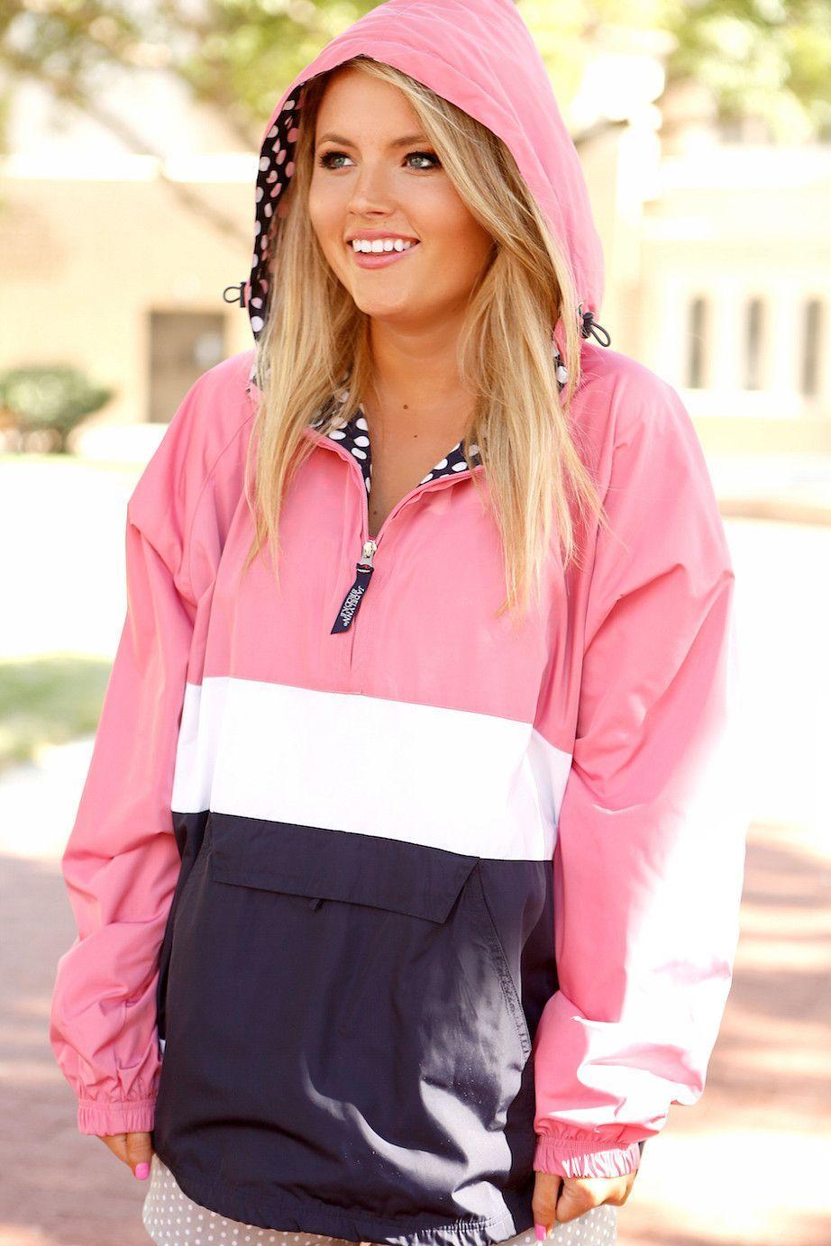Preppy Pullover Rain Jacket by Jadelynn Brooke