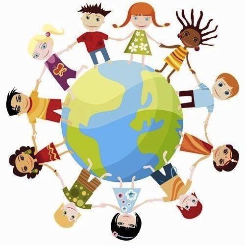 wereldkinderen leuk behang fotobehang thema
