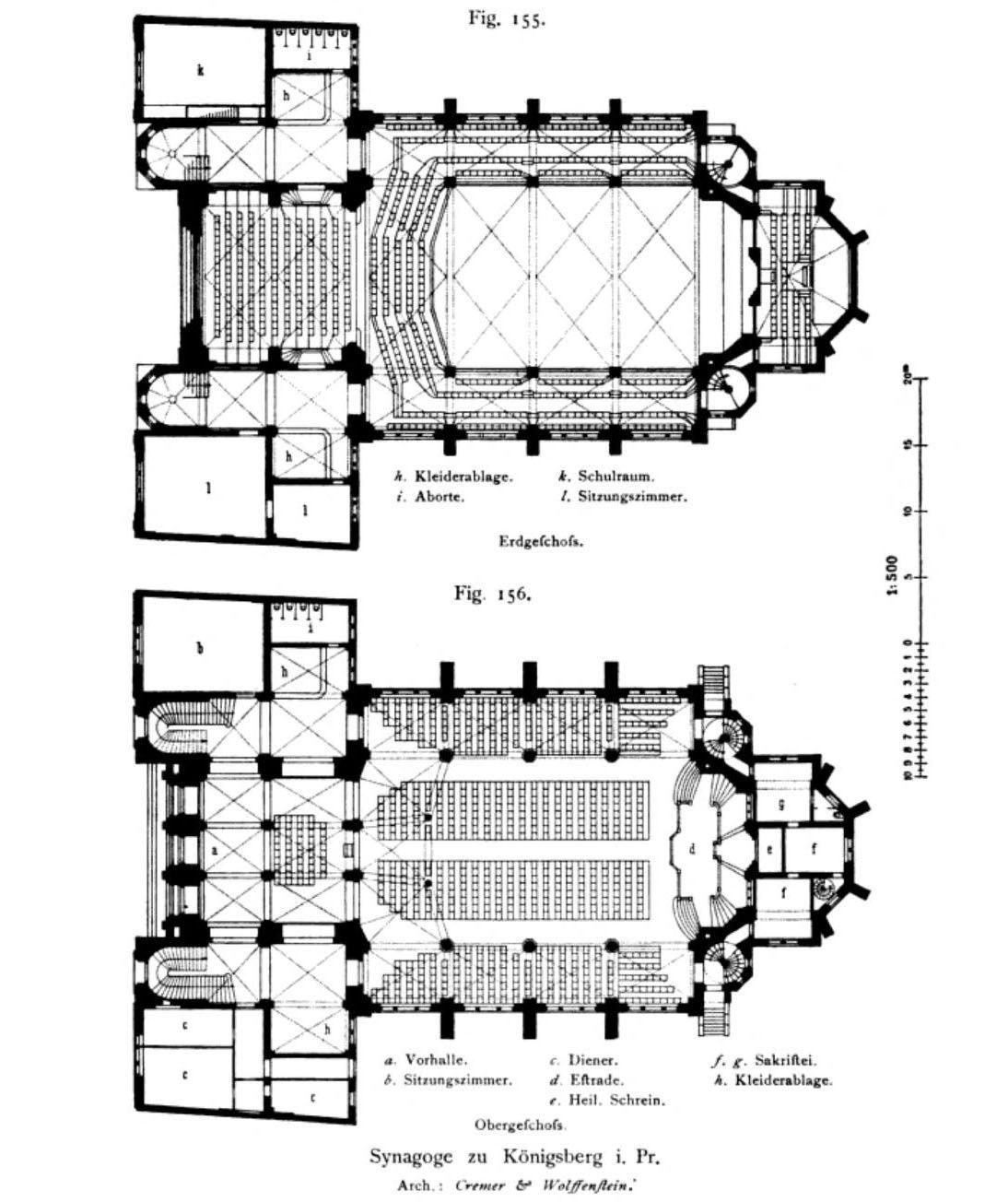Floor Plans Of The Synagogue Konigsberg