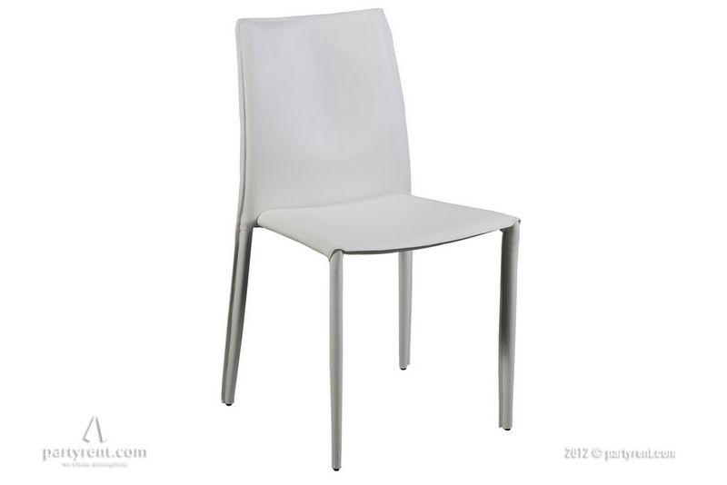 Leren stoel siena wit stoelen huren bij party rent black tie