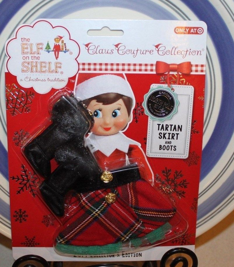 *TARTAN SKIRT & BOOTS* Elf on Shelf Clause Couture Collection 2014 Cloths in Elves | eBay